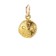 sand dollar charm, gold dipped