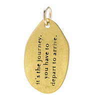 &quot;it's the journey&quot; charm, gold dipped