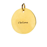 &quot;I believe&quot; charm, gold dipped