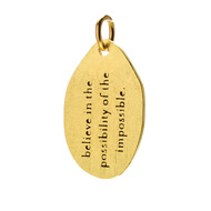 """believe in the possibility charm"" gold dipped"