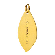 """new beginnings"" petal charm, gold dipped"