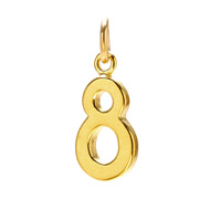 &quot;8&quot; charm, gold dipped