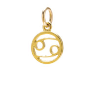 "zodiac ""cancer"" charm, gold dipped"