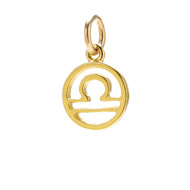 zodiac &quot;libra&quot; charm, gold dipped