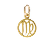 "zodiac ""virgo"" charm, gold dipped"