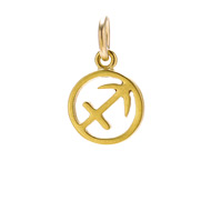 zodiac &quot;sagittarius&quot; charm, gold dipped