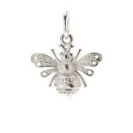 bee charm, sterling silver