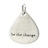 &quot;be the change&quot; charm, sterling silver