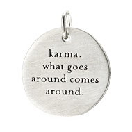 &quot;karma&quot;&quot; charm, sterling silver