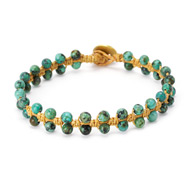 limited edition jewel box macrame turquoise bracelet on natural