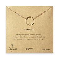 large karma necklace gold dipped