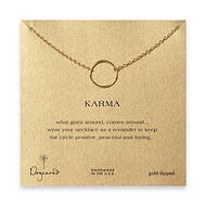 large smooth karma necklace, gold dipped