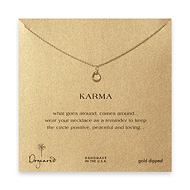mini karma necklace gold dipped