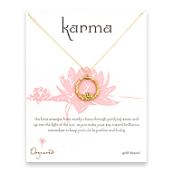 lotus karma gold dipped necklace