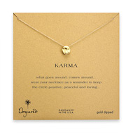 organic karma gold dipped necklace
