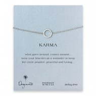 small karma circle bracelet, sterling silver