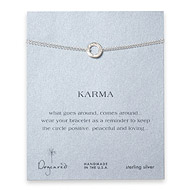 small hammered karma bracelet, sterling silver