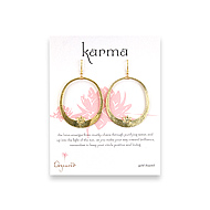 large lotus karma disc earrings gold dipped