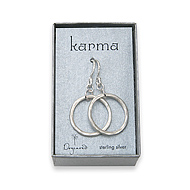 large karma earrings sterling silver