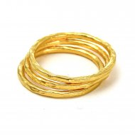 gold dipped karma rings, set of 3