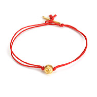 eat pray love meditate gold dipped om bead bracelet on red