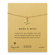 make a wish butterfly bracelet, gold dipped
