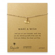 make a wish crown bracelet, gold dipped