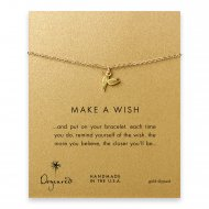 make a wish hummingbird bracelet, gold dipped