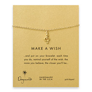 make a wish treble clef gold dipped reminder bracelet