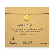 make a wish wheat bracelet on tobacco, gold dipped