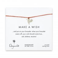 make a wish hummingbird bracelet on burnt orange, sterling silver