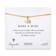 make a wish crown bracelet on mustard, sterling silver