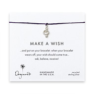 make a wish bracelet with sterling silver treble clef on plum
