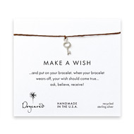 make a wish key bracelet on tobacco, sterling silver