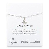 make a wish butterfly bracelet, sterling silver