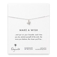 make a wish full heart bracelet, sterling silver