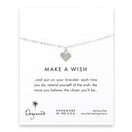 make a wish perfect heart bracelet, sterling silver