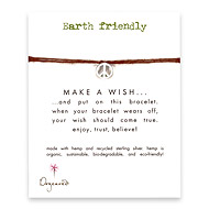 earth friendly make a wish bracelet with recycled peace sign on tobacco hemp
