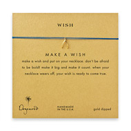 wish wishbone necklace on royal, gold dipped