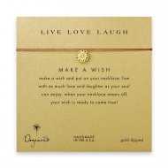 live love laugh daisy necklace on tobacco, gold dipped