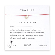 teacher make a wish necklace with sterling silver apple on red
