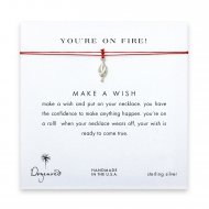 you're on fire! Torch necklace on red, sterling silver