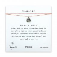 namaste buddha necklace on orange, sterling silver