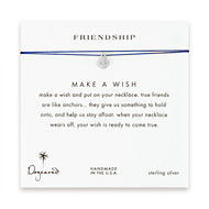 friendship smooth anchor necklace on royal, sterling silver