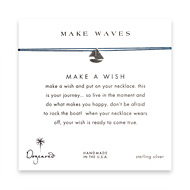 make waves smooth sailboat necklace on royal, sterling silver