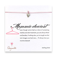 mommie dearest make a wish necklace with sterling silver kind heart on lavender
