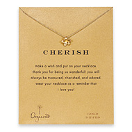 cherish plumeria necklace, gold dipped