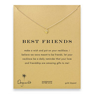 best friends cupid heart necklace, gold dipped