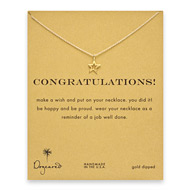 congratulations celestial star necklace, gold dipped