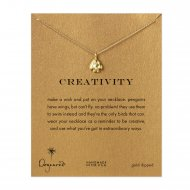 creativity penguin necklace, gold dipped